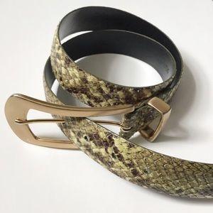 Carlisle snake print leather belt